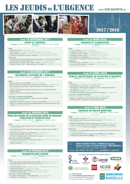 Archives les jeudis de l urgence 2017 2018 mermed - Jeudi de l ascension 2018 ...